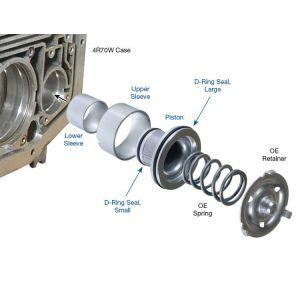 Piston&Sleeve Kit, AOD/E/4R70W 2-3 Accumulator 80+