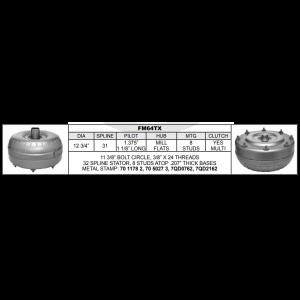 FM64TX Torque Converter Ford 5R110W (TORQSHIFT) / (TORQSHIFT) ( 6 Spd RWD/4X4 )